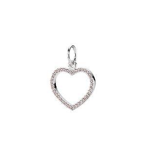 PANDORA Be My Valentine Silver CZ Pendant Enhancer Charm