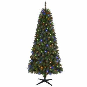 $69North Pole Trading Co. 7 Foot Cyprus Pre-Lit Christmas Tree