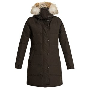 Shelburne fur-trimmed down coat