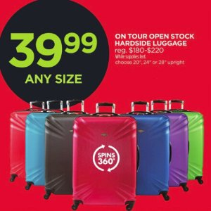 $39.99 All SizesOn Tour Hardside Luggage @ JCPenney