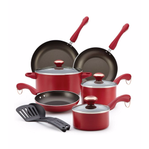 Paula Deen® Dishwasher Safe 11-pc. Red Cookware Set | Bon-Ton