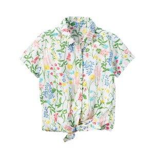 Floral Tie-Front Shirt