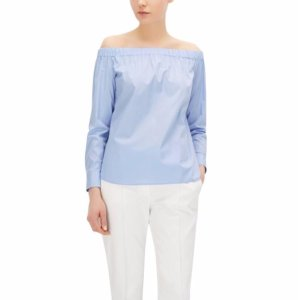 'Bagiana' | Stretch Cotton Carmen Blouse