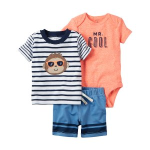Baby Boy 3-Piece Little Short Set | Carters.com