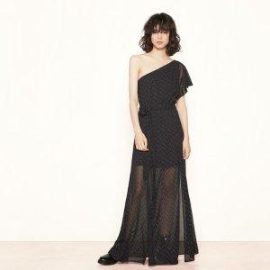 REALLA Long, asymmetric dress with studs - Dresses - Maje.com