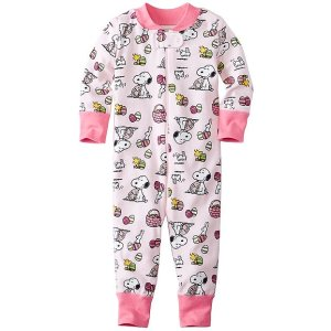 Peanuts Baby Sleepers In Pure Organic Cotton | Sale Baby Sleepwear