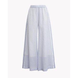 Striped Wide-Leg Drawstring Pant | Theory