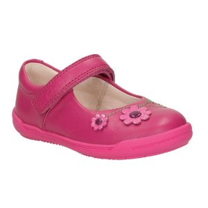 Softly Jam First Hot Pink Leather - Girls Shoes, Boots, and More - Clarks® Shoes Official Site