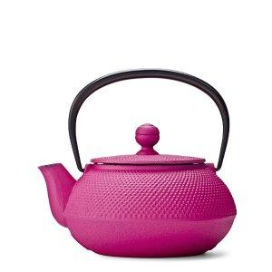Pink Hobnail Cast Iron Teapot