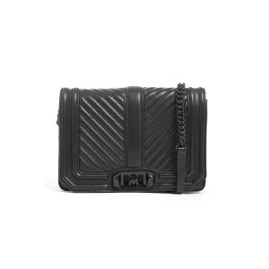 Small Love Chevron Quilted Crossbody Bag