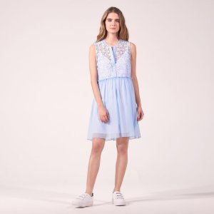 Floaty Dress With Starry Lace - Dresses - Sandro-paris.com