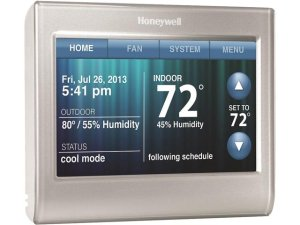 Honeywell RTH9580WF Wi-Fi Smart Thermostat w/ Customizable Color Touchscreen