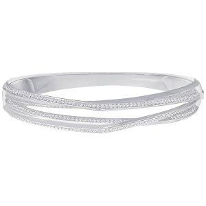 Genius Bangle, White - Jewelry - Swarovski Online Shop