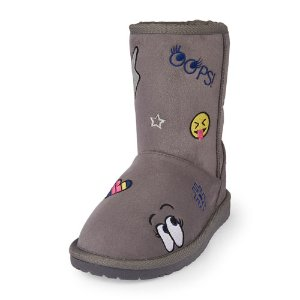 Girls Embroidered Emoji Chalet Boot | The Children's Place