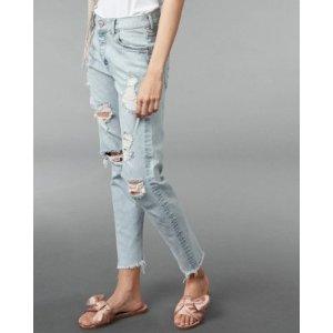 High Waisted Distressed Original Vintage Skinny Ankle Jeans | Express