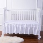 TillYou 100% Combed Cotton Sateen Crib Skirt