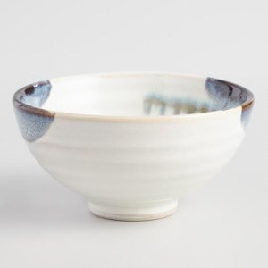 Blue and White Reactive Glaze Small Bowls Set of 4