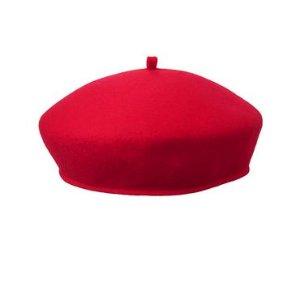 女童纯羊毛贝雷帽