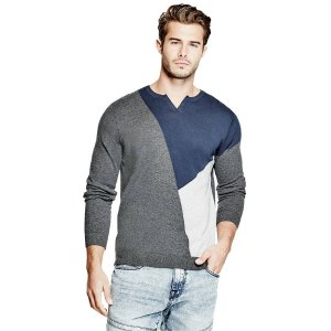 Bedford Slit-Neck Sweater | GuessFactory.com