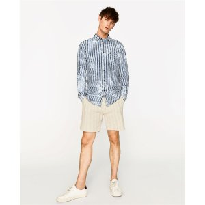 WASHED STRIPED SHIRT - View All-SHIRTS-MAN-SALE | ZARA United States