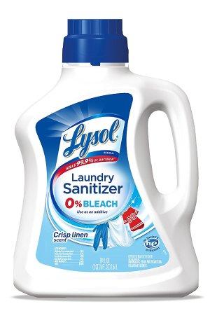 首次订购享8.5折,$8.84Lysol 衣物洗涤除菌液, Crisp Linen香型,不含漂白剂  90oz