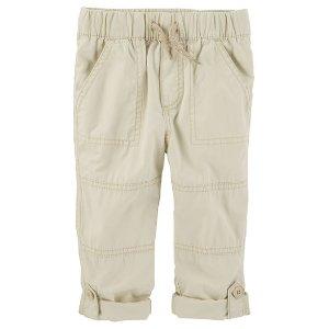 Kid Boy Pull-On Convertible Poplin Pants | OshKosh.com