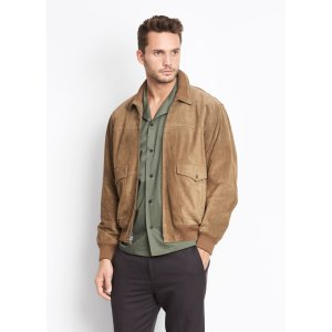 Suede Flight Jacket for Men | Vince