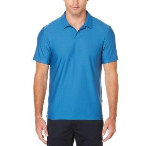 Short Sleeve Jacquard Polo - Perry Ellis