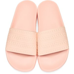 adidas Originals: Pink Adilette Slide Sandals