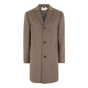 Oat Overcoat Containing Wool