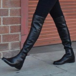 Stuart Weitzman 5050 Leather Over-The-Knee Boots
