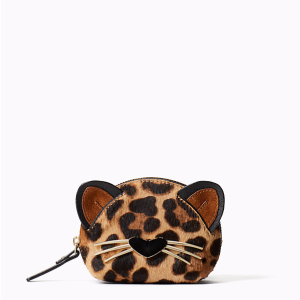 run wild leopard-print dumpling coin purse