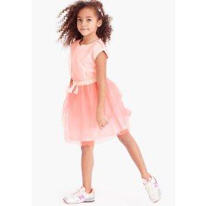 Girls' layered tulle dress