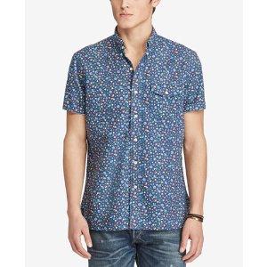 Polo Ralph Lauren Men's Floral-Print Cotton Oxford Shirt