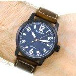 CITIZEN Chandler Dark Blue Dial Men's Brown Leather Watch Item No. BM8478-01L