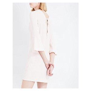 SANDRO - Flared-sleeves crêpe dress   Selfridges.com