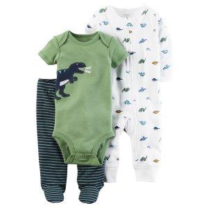3-Piece Babysoft Footed Pant Set