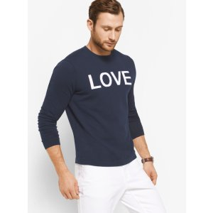Love Intarsia Cotton Pullover | Michael Kors
