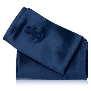 slip Queen Pure Silk Pillowcase - Navy Blue - Dermstore
