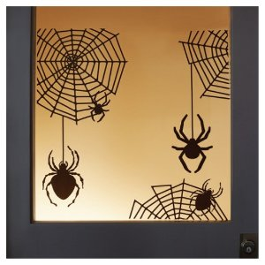 Halloween Spider and Web Silhouette Window and Wall Cling - Hyde and Eek! Boutique™