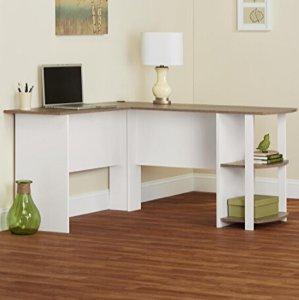 $57.44Altra Furniture 9354015PCOM Dakota L-Shaped Desk with Bookshelves