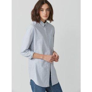 Boyfriend Striped Oxford Shirt-Dress in Blue | Frank + Oak