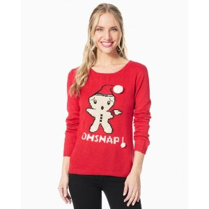 """""""Oh Snap"""" Gingerbread Sweater"""