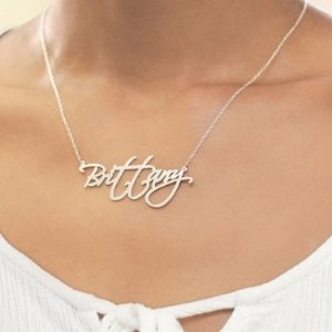 $15Personalized Name Necklaces in Sterling Silver @ Zales!