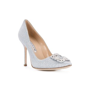 Manolo Blahnikglittered Hangisi pumps