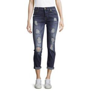 7 For All Mankind Destroyed Denim Jeans
