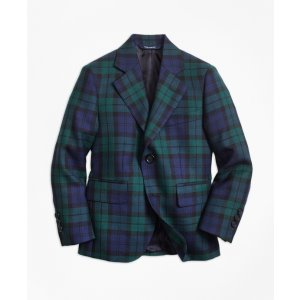Two-Button Black Watch Wool Suit Jacket - Brooks Brothers