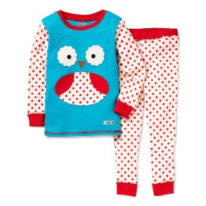 Skip Hop Blue & Red Owl Pajama Set - Toddler & Girls