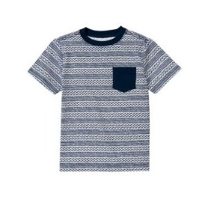 Boys Gym Navy Stripe Wavy Stripe Tee by Gymboree