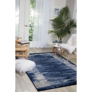 Latitude Run Alojzov Blue Area Rug | Wayfair